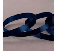 Лента атласная, 10 мм × 23 ± 1 м, цвет тёмно-синий №81