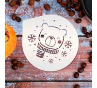 Трафарет для кофе «Мишка», 9.5 × 8.5 см