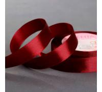 Лента атласная, 20 мм × 23 ± 1 м, цвет бордовый №156