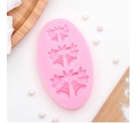 Молд силиконовый «Колокольчики», 8,6×5,2 см, цвет розовый