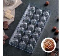 """Форма для шоколада """"Роза"""", 21 ячейка"""