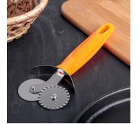 Нож для пиццы и теста «Оранж», 17 см, 2 лезвия
