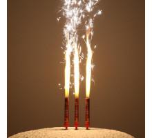 """Набор тортовых свечей """"Праздничные фонтаны. С Новым Годом"""" 12,5 см (3 шт)"""