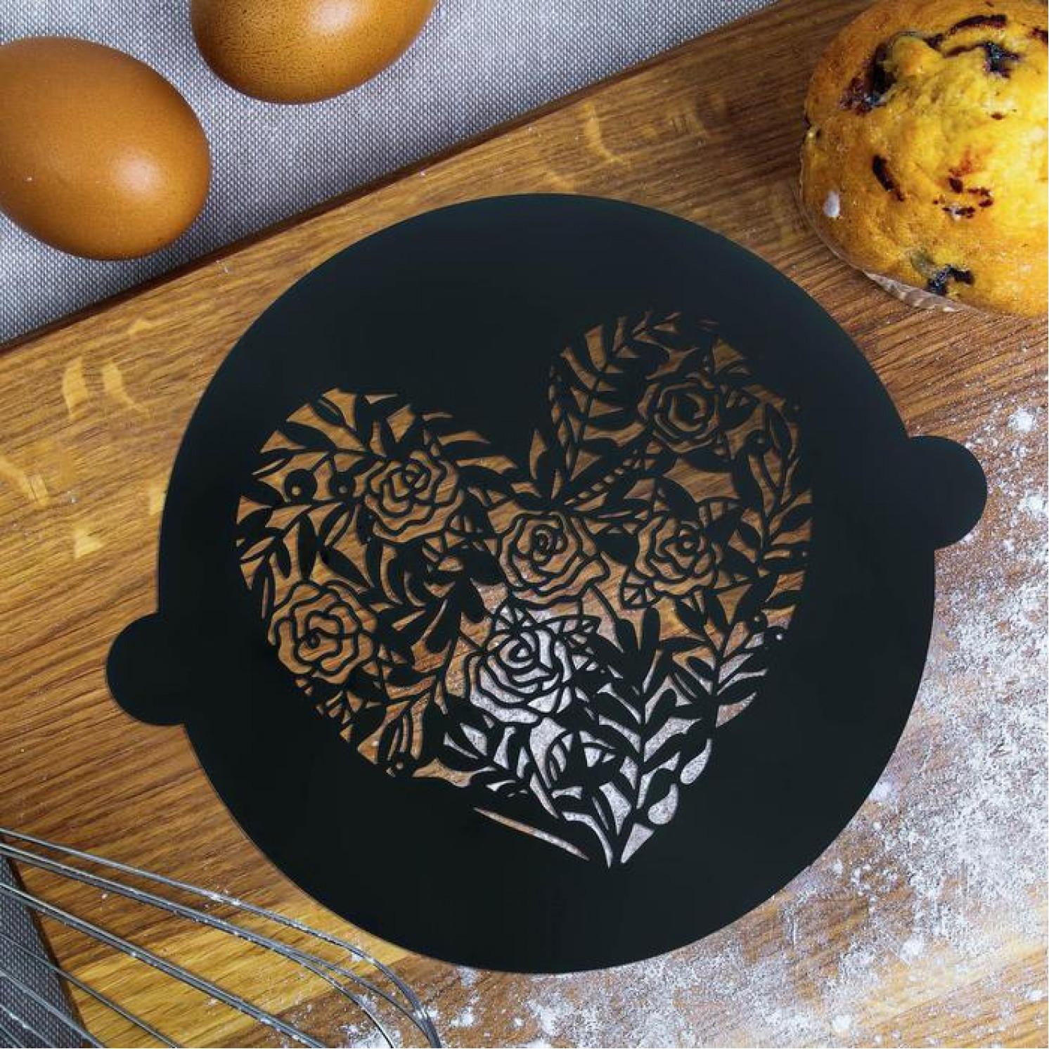 Трафарет для выпечки «Сердце», 19 × 22 см