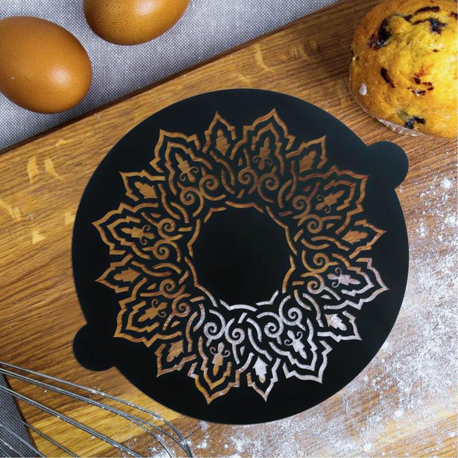 Трафарет для выпечки «Калейдоскоп», 19 × 22 см