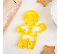 """Форма для вырезки теста """"Пряничный человек"""", цвет жёлтый"""