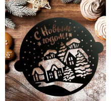 Трафарет для выпечки «Новогодняя деревня», 30 × 35 см