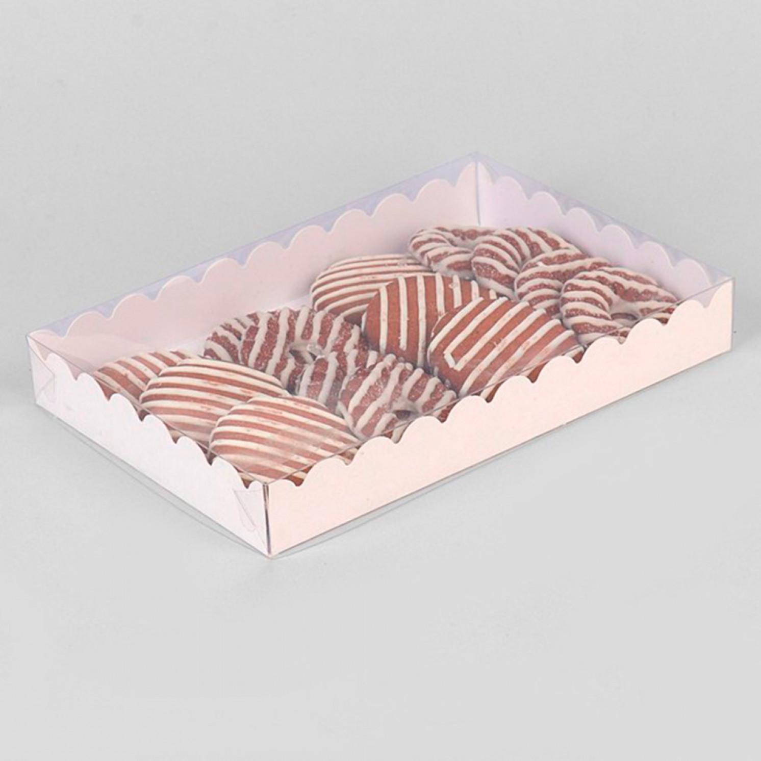 Коробочка для печенья, белая, 22 х 15 х 3 см