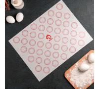 Коврик армированный для макаронс 40х30 см, цвет МИКС