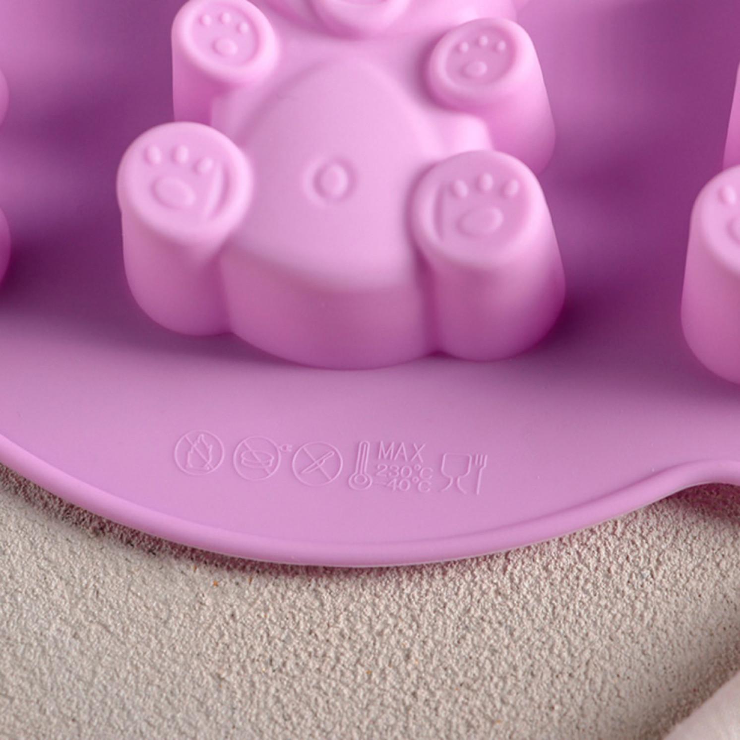 Форма для выпечки «Мишка», 27×24 см, 7 ячеек (6,7×3,2 см), цвет МИКС