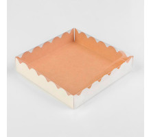 Коробочка для печенья, крафт, 15 х 15 х 3 см