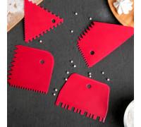 Набор шпателей кондитерских, 4 предмета, цвет МИКС