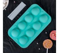 """Форма для леденцов и мороженого """"Чупик"""", 8 ячеек, 2 части, с палочками, цвет МИКС"""