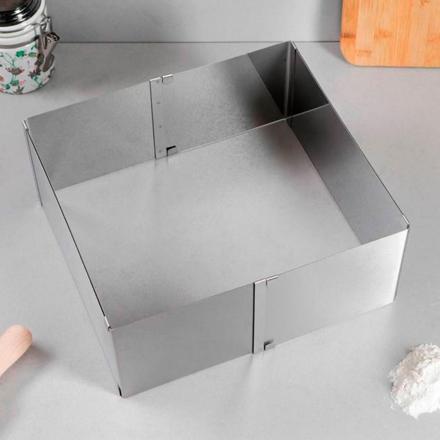 """Форма для выпечки с регулировкой размера """"Прямоугольная"""", 15 х 25-27 х 48 х 12 см"""