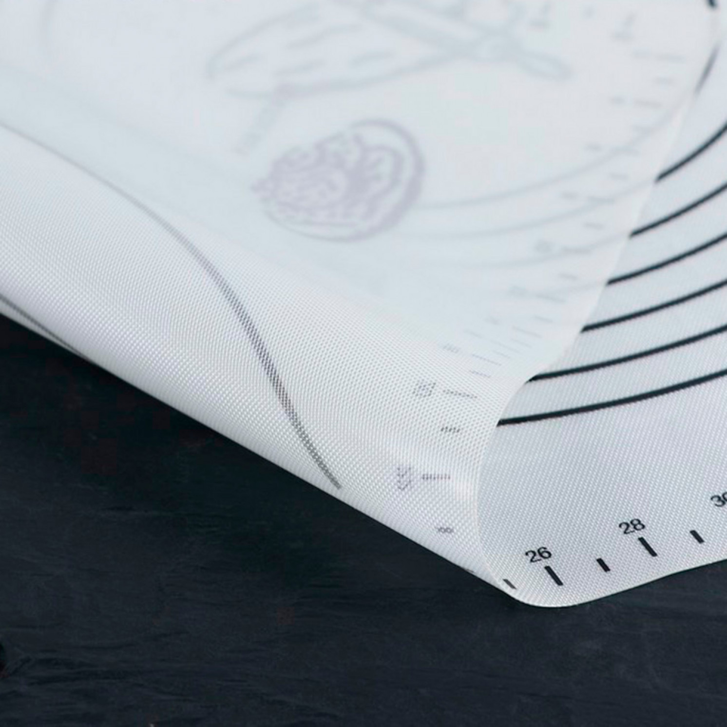 Коврик армированный с разлиновкой «Эрме», 59,5×40 см
