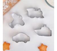 Набор форм для вырезания печенья «Транспорт», 4 шт