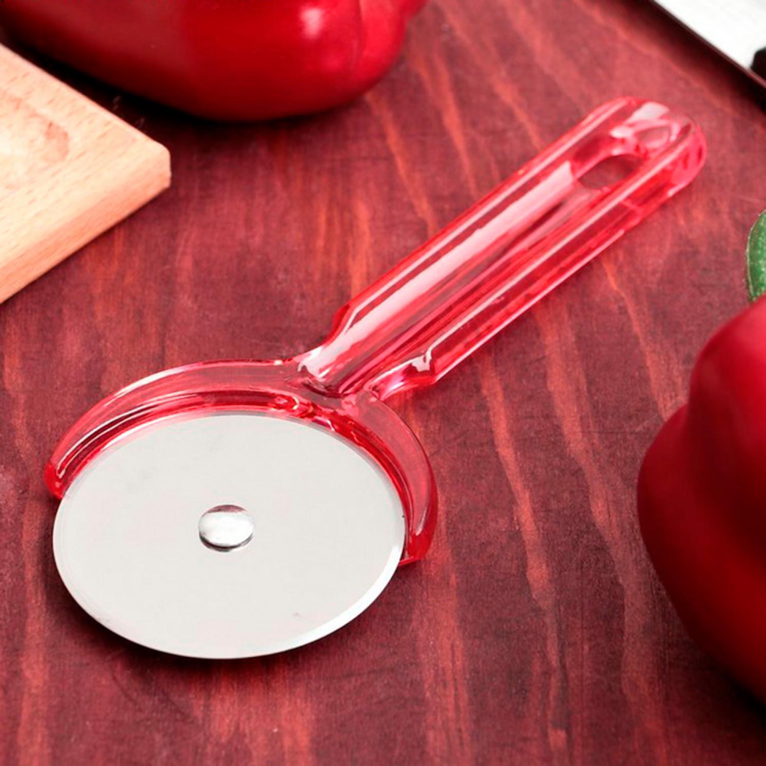 """Нож для пиццы и теста """"Леденец"""" 18 см, цвета МИКС"""