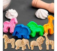 Набор плунжеров кондитерских «Зоопарк», 4 шт, 6×5 см, цвет МИКС