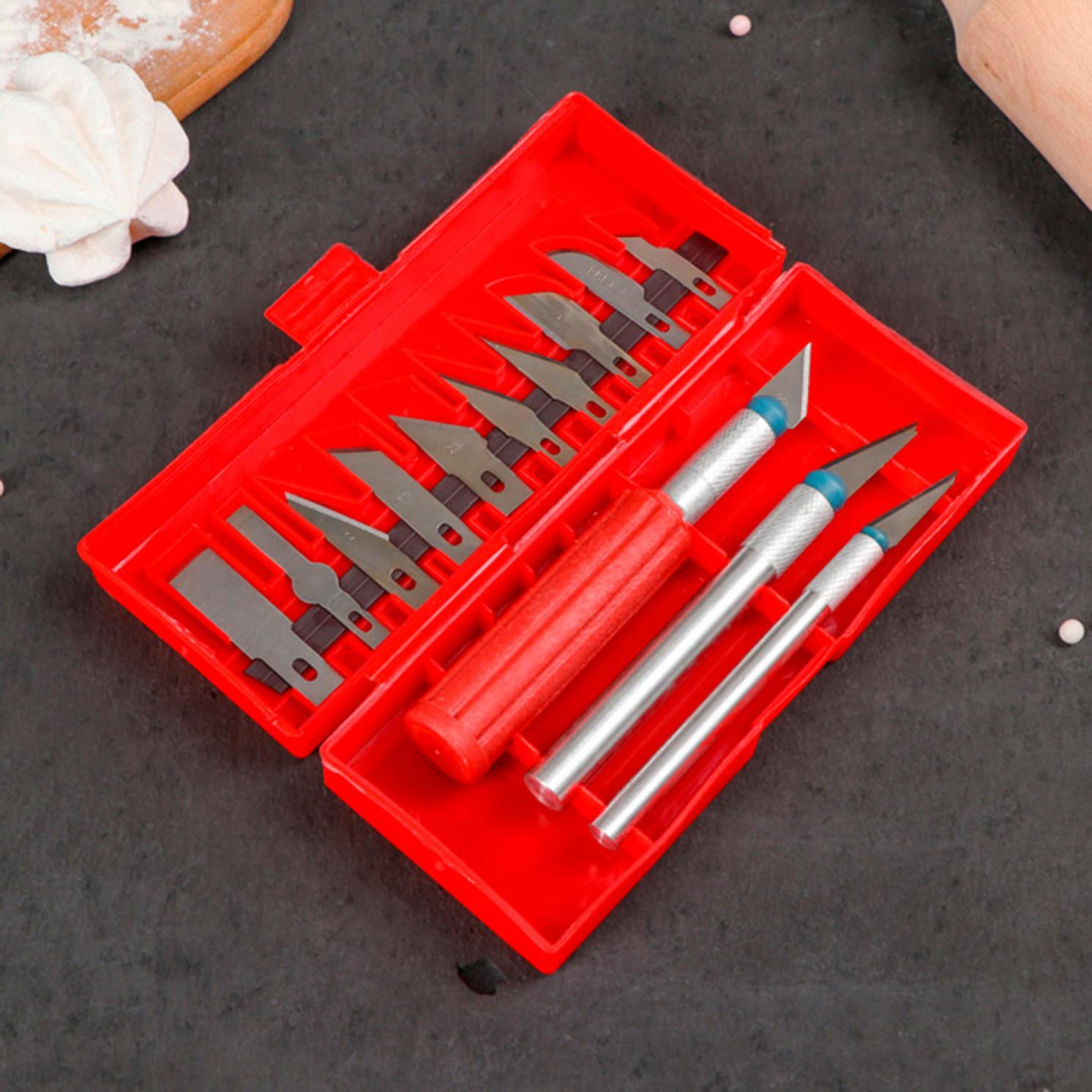 Набор кондитерских инструментов для моделирования, 13 предметов цвет МИКС