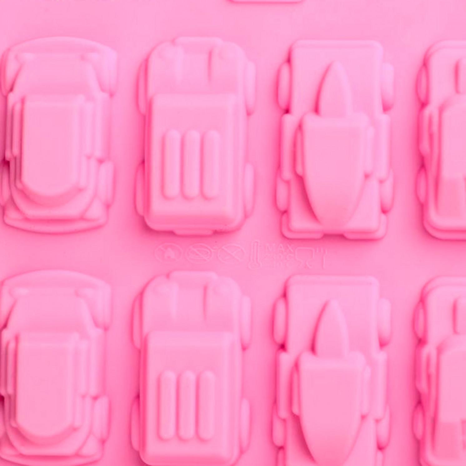Форма для льда и шоколада «Автомобили», 20 ячеек, 22×10×1,8 см, цвет МИКС