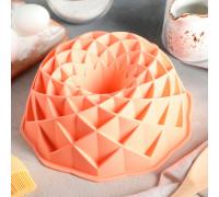 Форма для выпечки «Ромбовидная», d=23 см, цвет МИКС