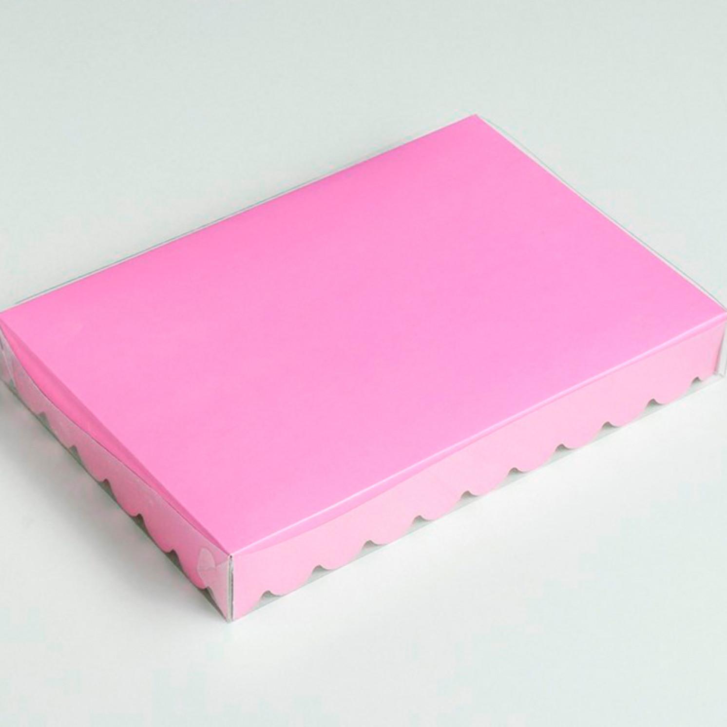 Коробочка для печенья, сиреневая, 22 х 15 х 3 см