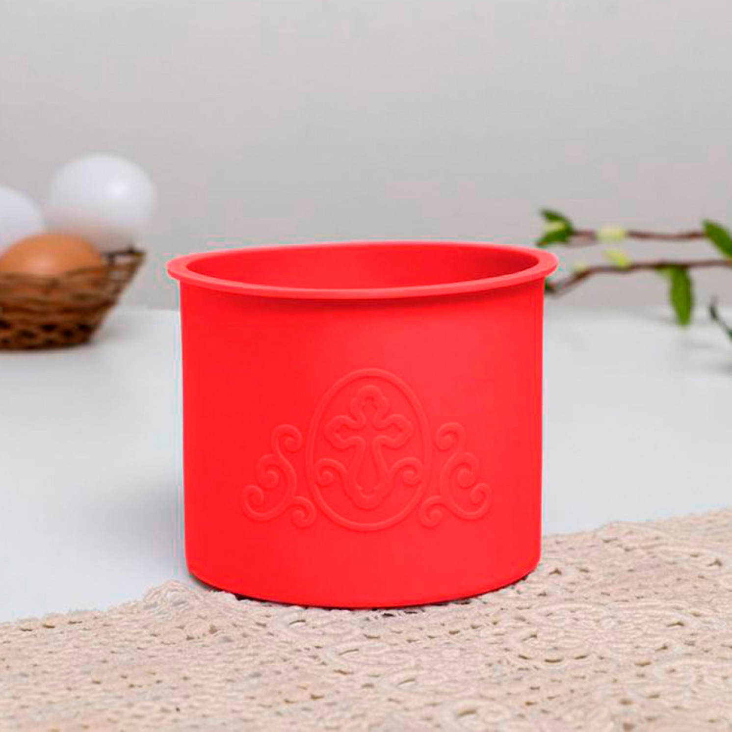 Набор силиконовых форм для выпечки «ХВ» красные, 3 шт.