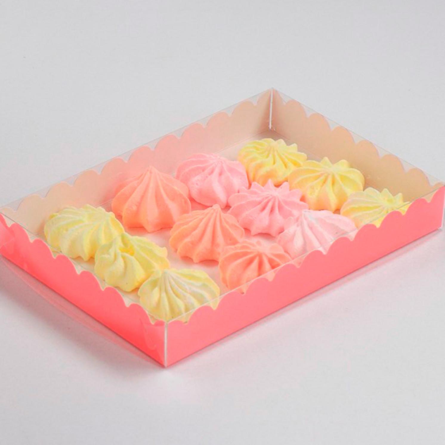 Коробочка для печенья, коралловый, 22 х 15 х 3 см