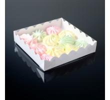 Коробочка для печенья, белая, 15 х 15 х 3 см