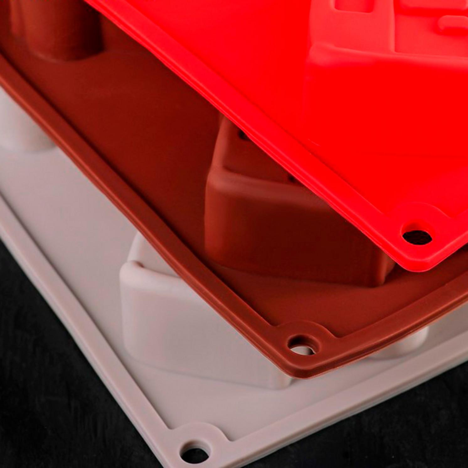 Форма для выпечки «Транспорт», 30×17,5 см, 6 ячеек (9×5,5×3,5 см), цвет МИКС