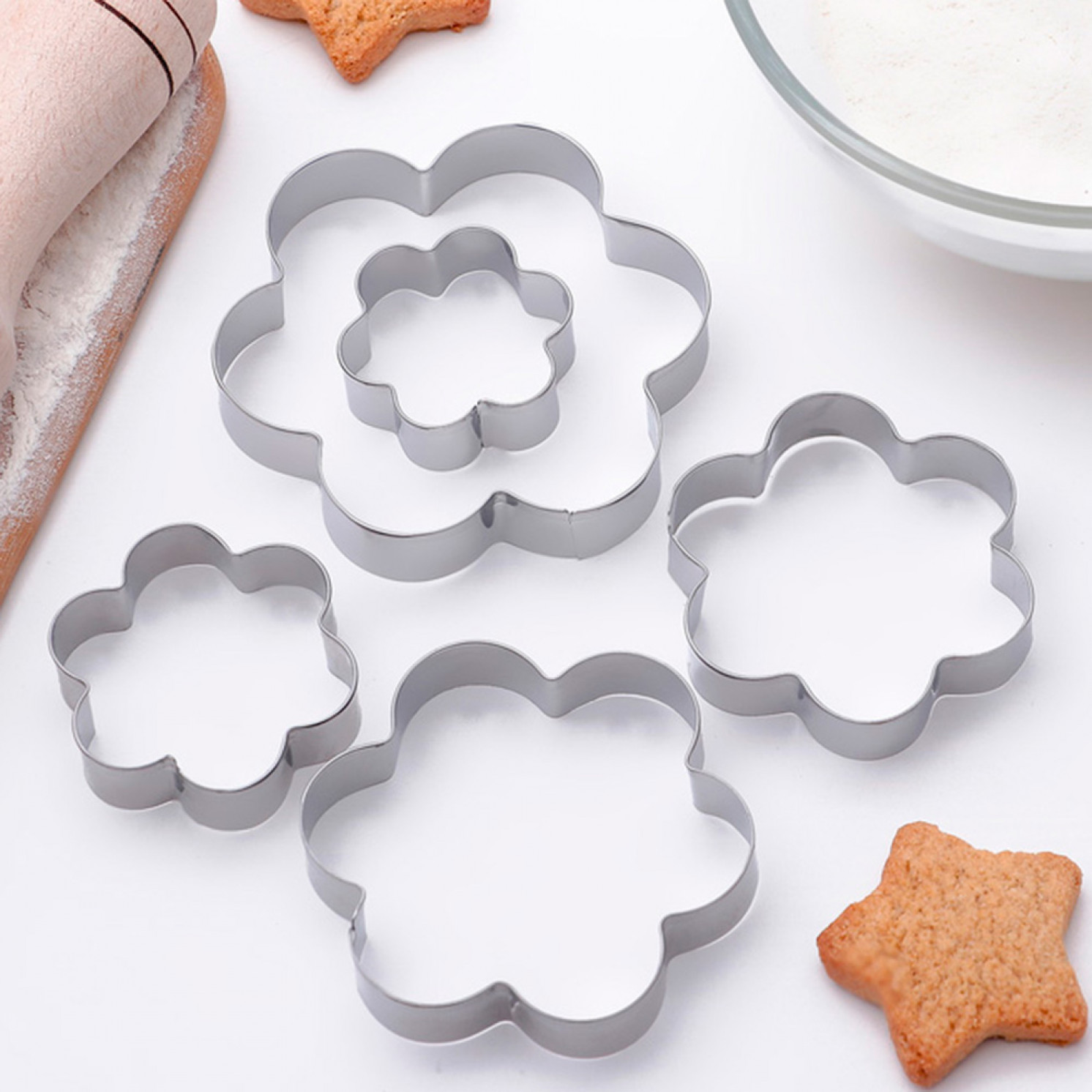 """Набор форм для вырезания печенья 7,8x7,8 см """"Ромашка"""", 5 шт"""