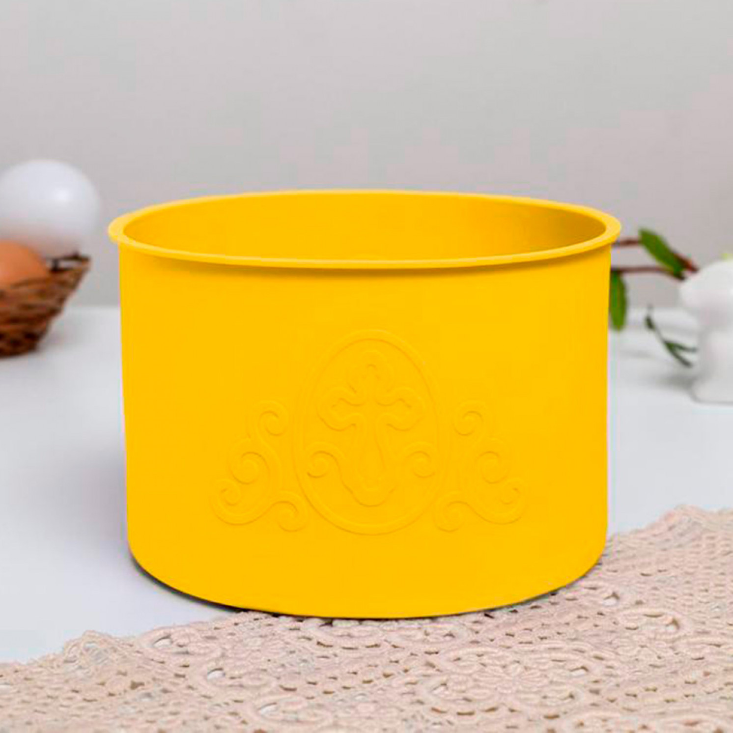 Набор силиконовых форм для выпечки «ХВ» желтые, 3 шт.
