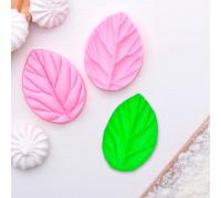 Молд силиконовый «Лист вишни», 2 части, 7,5×5,5 см