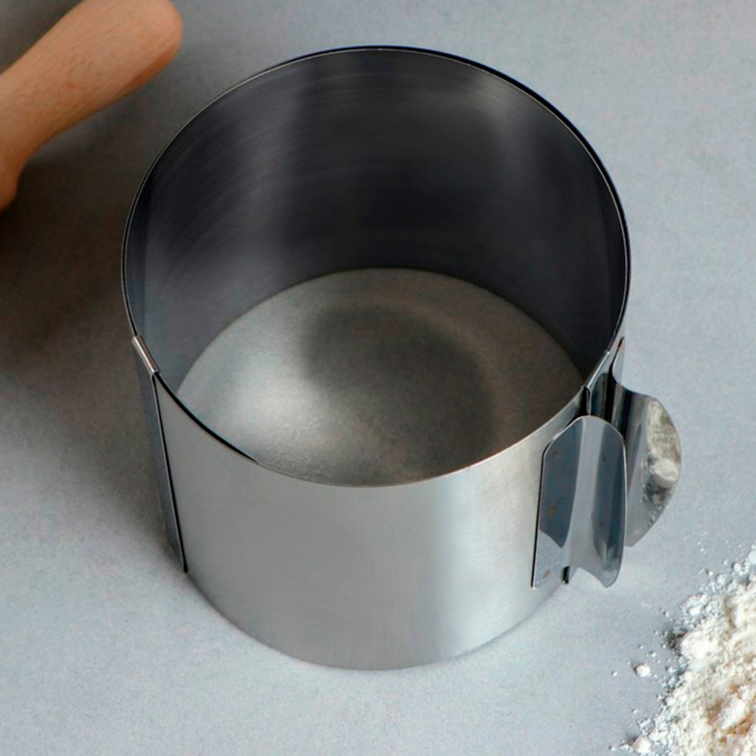 """Форма для выпечки и выкладки с регулировкой размера """"Круг"""", D-12-20, H-10 см"""