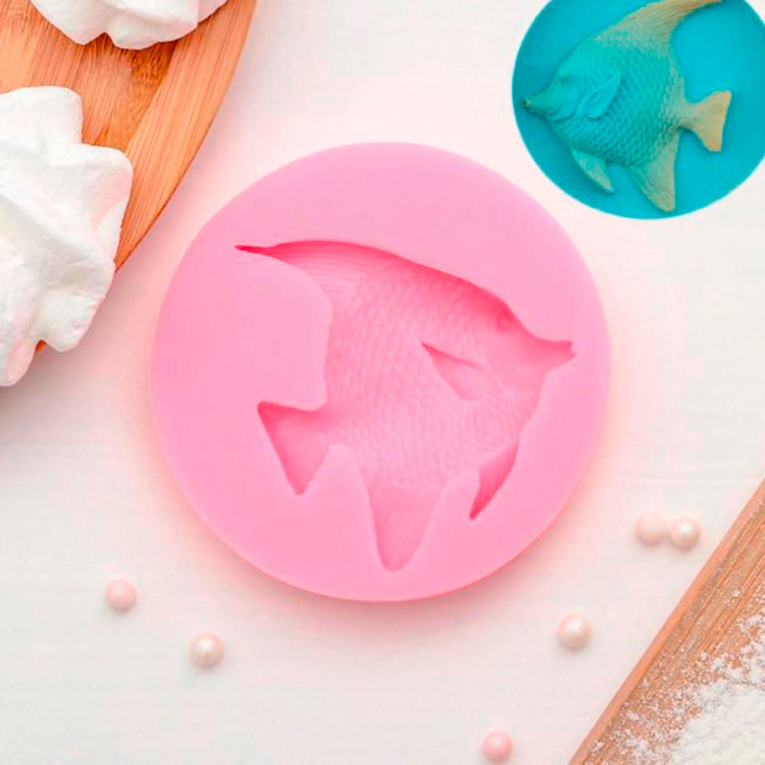Молд силиконовый «Рыба», 7,7×7,7×1,2 см, цвет МИКС