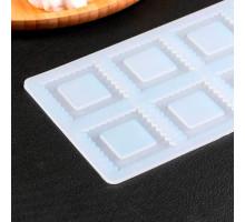 Коврик для айсинга «Квадрат», 8 ячеек, 22,5×11×0,3 см, цвет прозрачный