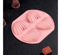 Форма для льда и шоколада «Хвост русалки», 14,5×12,5×2 см, 4 ячейки, цвет МИКС