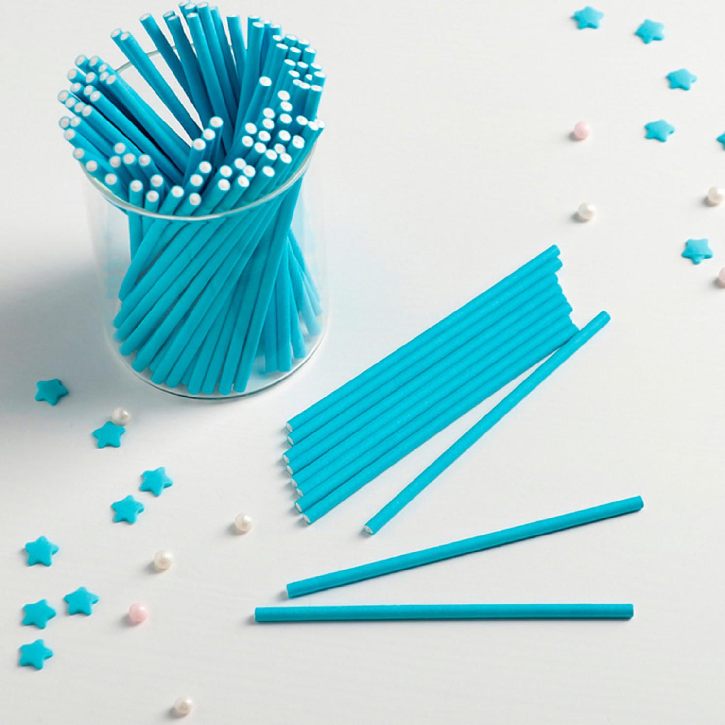 Палочки для кейкпопсов 10×0,2 см, 100 шт, цвет синий