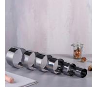 """Набор форм для выпечки и выкладки """"Круг"""", D-10, H-5 см, 6 шт. 4046503"""