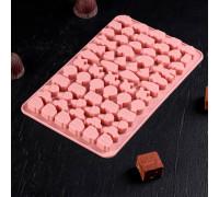 Форма для льда и шоколада «Транспорт», 21×12,5×1 см, 64 ячейки, цвет МИКС