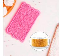 Молд силиконовый «Розарий», 17×10,5×1 см, цвет МИКС