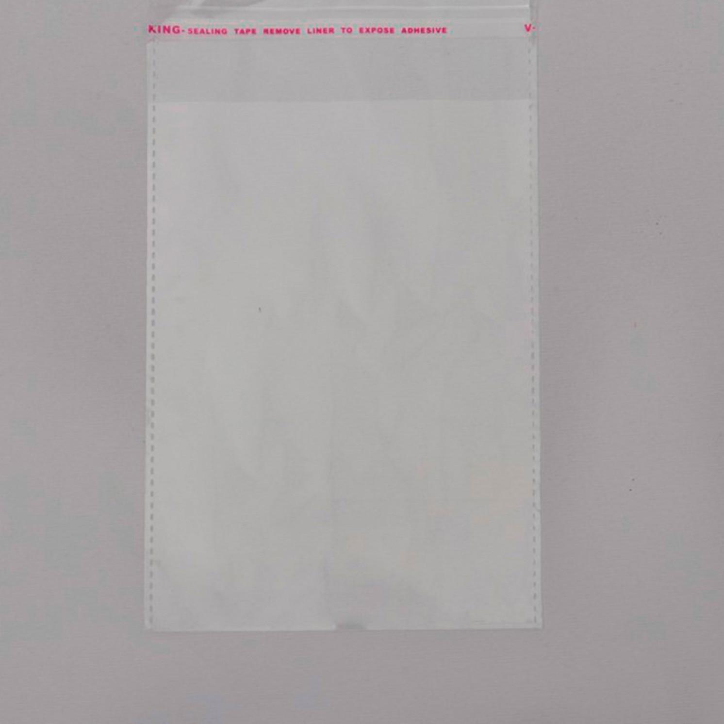 Пакет с клеевым клапаном 10 х 14/4 см, 25 мкм 1 шт
