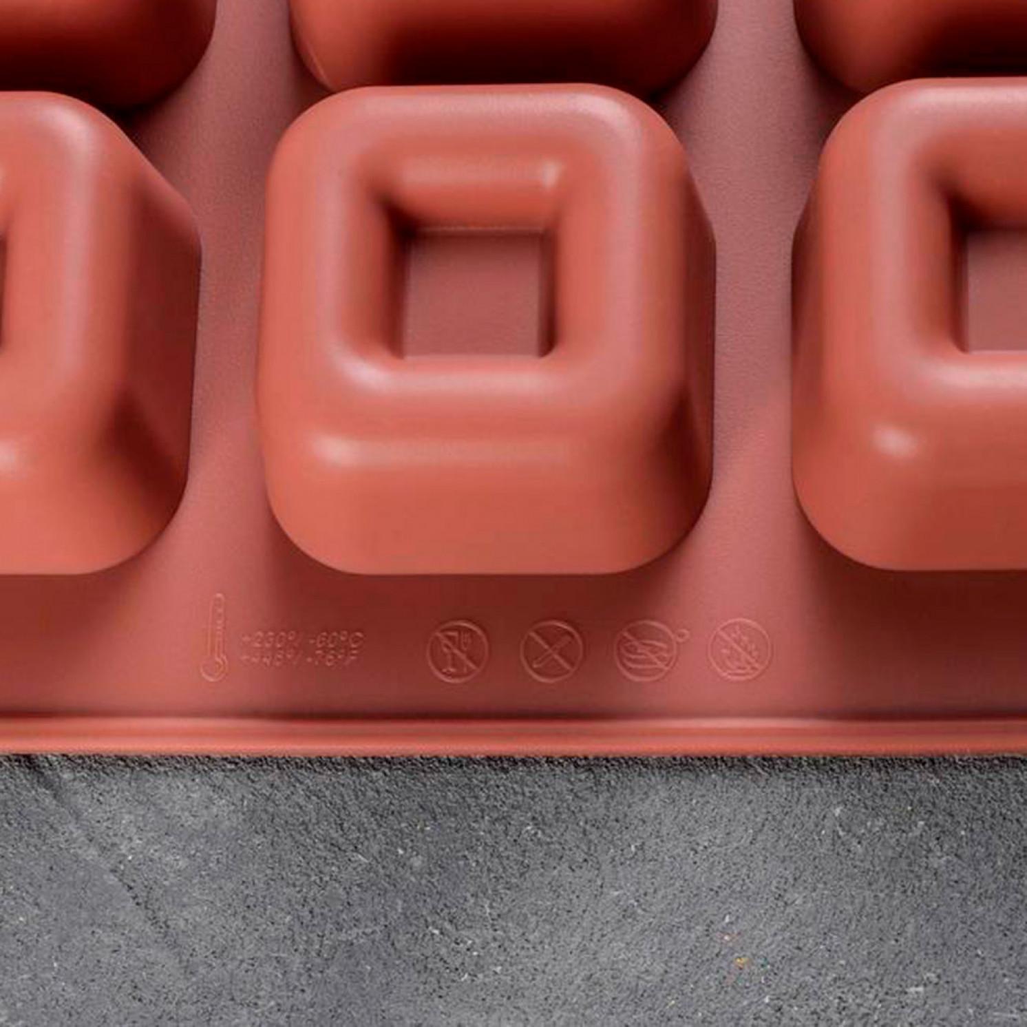 Форма для выпечки «Лолли.Квадрат», 30×17×2,5 см, 15 ячеек, цвет МИКС