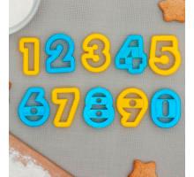 """Набор форм для вырезания печенья """"Цифры"""", 10 шт, цвета МИКС"""