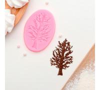 Молд силиконовый «Дерево», 8,2×6 см, цвет МИКС