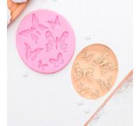 Молд силиконовый «Шесть бабочек», 8,4×7,5 см, цвет МИКС