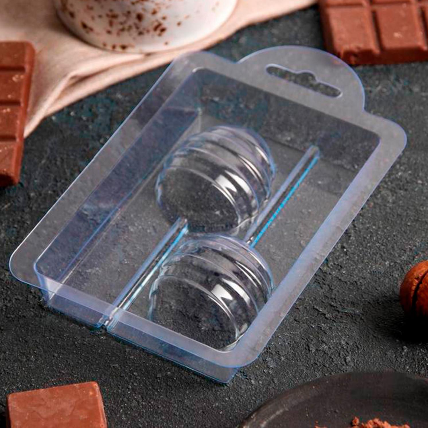 "Форма для шоколада ""Яйцо на палочке спиральное"" 6827165"