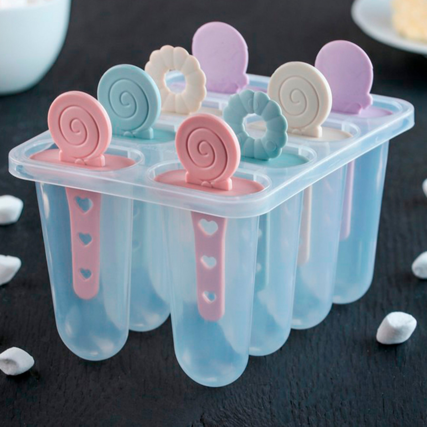Форма для мороженого «Леденец», 8 ячеек, 15×12×12 см, цвет МИКС