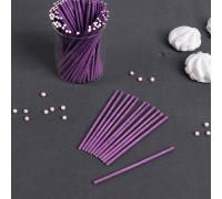 Палочки для кейкпопсов 10 см (в наборе 100 шт), цвет фиолетовый