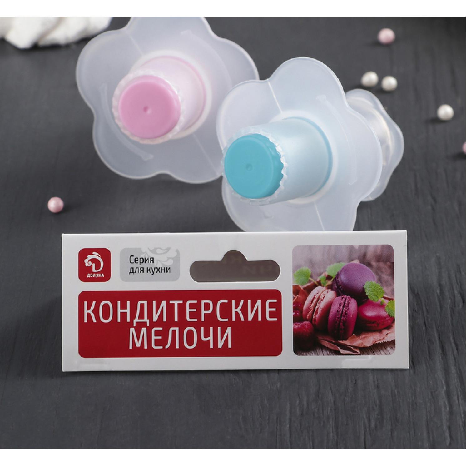 Шприц-пресс кондитерский для заполнения начинкой выпечки 6,5×4,5×3 см, цвет МИКС